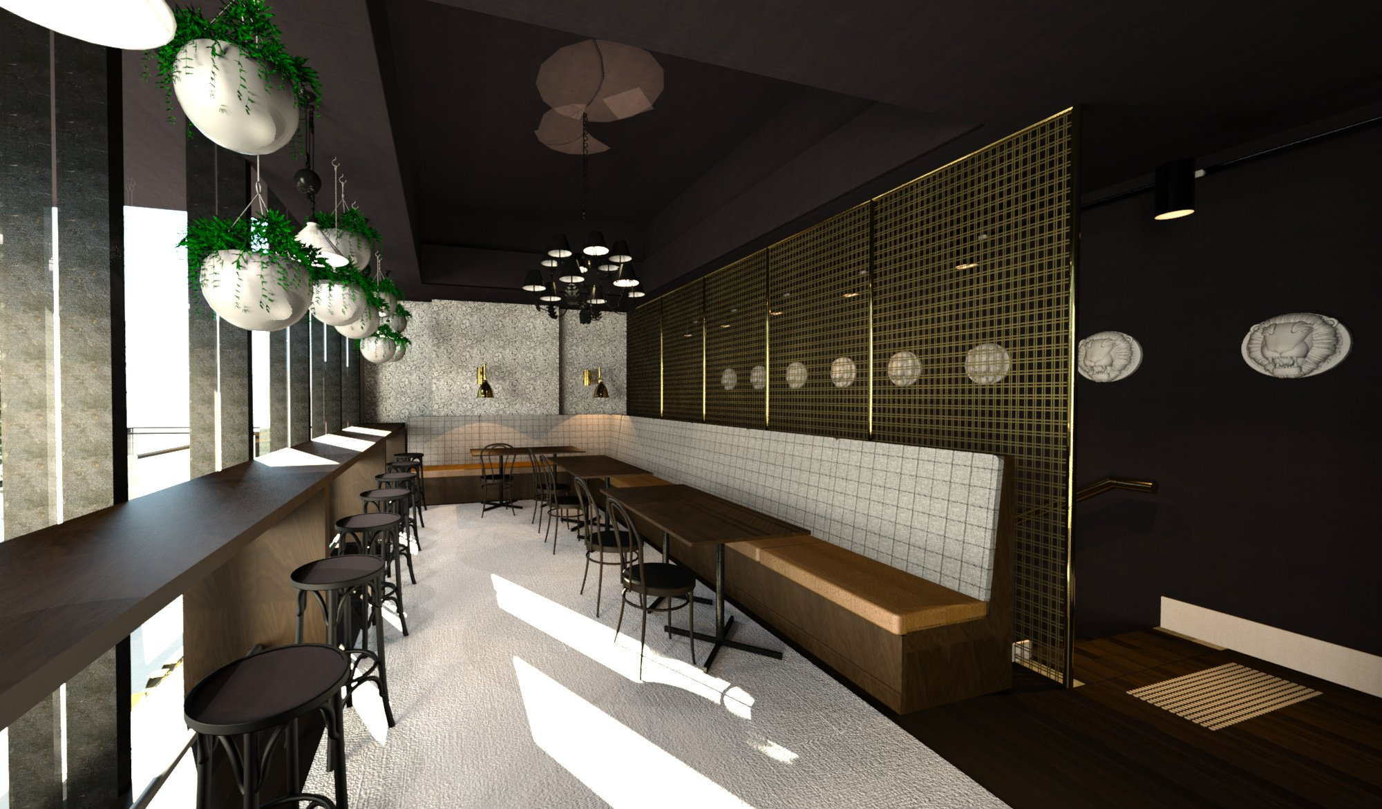 Project Steam Member Punk Cafe Designed by Wing Design Studio